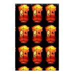 Paper Lanterns Pattern Background In Fiery Orange With A Black Background Shower Curtain 48  x 72  (Small)  42.18 x64.8 Curtain