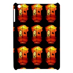 Paper Lanterns Pattern Background In Fiery Orange With A Black Background Apple iPad Mini Hardshell Case