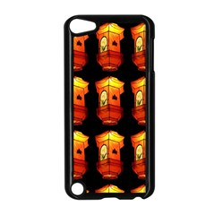 Paper Lanterns Pattern Background In Fiery Orange With A Black Background Apple iPod Touch 5 Case (Black)