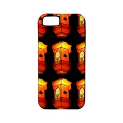 Paper Lanterns Pattern Background In Fiery Orange With A Black Background Apple iPhone 5 Classic Hardshell Case (PC+Silicone)