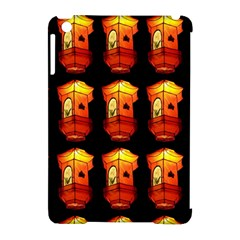 Paper Lanterns Pattern Background In Fiery Orange With A Black Background Apple iPad Mini Hardshell Case (Compatible with Smart Cover)
