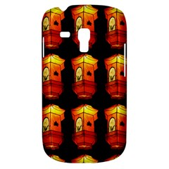 Paper Lanterns Pattern Background In Fiery Orange With A Black Background Galaxy S3 Mini