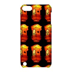 Paper Lanterns Pattern Background In Fiery Orange With A Black Background Apple iPod Touch 5 Hardshell Case with Stand
