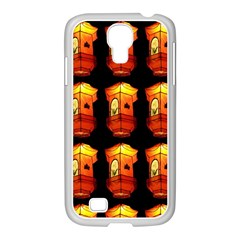 Paper Lanterns Pattern Background In Fiery Orange With A Black Background Samsung GALAXY S4 I9500/ I9505 Case (White)