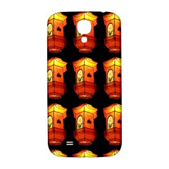 Paper Lanterns Pattern Background In Fiery Orange With A Black Background Samsung Galaxy S4 I9500/i9505  Hardshell Back Case