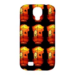 Paper Lanterns Pattern Background In Fiery Orange With A Black Background Samsung Galaxy S4 Classic Hardshell Case (pc+silicone)