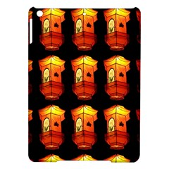 Paper Lanterns Pattern Background In Fiery Orange With A Black Background iPad Air Hardshell Cases