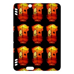 Paper Lanterns Pattern Background In Fiery Orange With A Black Background Kindle Fire HDX Hardshell Case