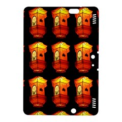 Paper Lanterns Pattern Background In Fiery Orange With A Black Background Kindle Fire HDX 8.9  Hardshell Case