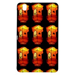 Paper Lanterns Pattern Background In Fiery Orange With A Black Background Samsung Galaxy Tab Pro 8.4 Hardshell Case