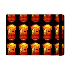Paper Lanterns Pattern Background In Fiery Orange With A Black Background Ipad Mini 2 Flip Cases