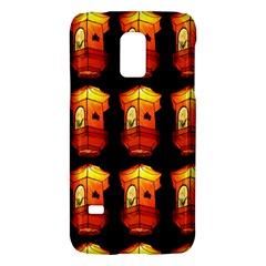 Paper Lanterns Pattern Background In Fiery Orange With A Black Background Galaxy S5 Mini