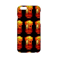 Paper Lanterns Pattern Background In Fiery Orange With A Black Background Apple Iphone 6/6s Hardshell Case