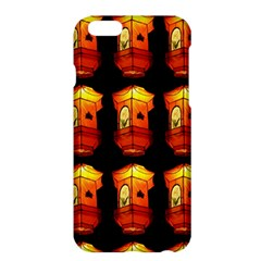 Paper Lanterns Pattern Background In Fiery Orange With A Black Background Apple iPhone 6 Plus/6S Plus Hardshell Case