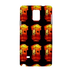 Paper Lanterns Pattern Background In Fiery Orange With A Black Background Samsung Galaxy Note 4 Hardshell Case