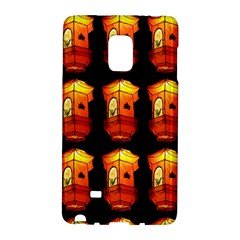 Paper Lanterns Pattern Background In Fiery Orange With A Black Background Galaxy Note Edge