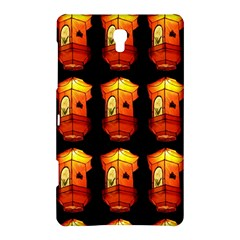 Paper Lanterns Pattern Background In Fiery Orange With A Black Background Samsung Galaxy Tab S (8.4 ) Hardshell Case