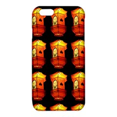 Paper Lanterns Pattern Background In Fiery Orange With A Black Background iPhone 6/6S TPU Case