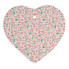 Geometric Abstract Triangles Background Ornament (Heart)