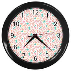 Geometric Abstract Triangles Background Wall Clocks (black)