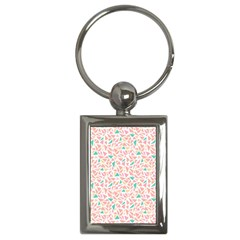Geometric Abstract Triangles Background Key Chains (rectangle)