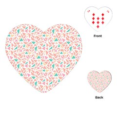 Geometric Abstract Triangles Background Playing Cards (Heart)