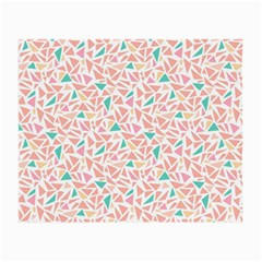 Geometric Abstract Triangles Background Small Glasses Cloth (2 Side)