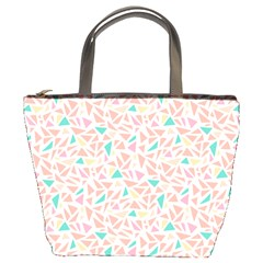 Geometric Abstract Triangles Background Bucket Bags