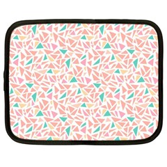Geometric Abstract Triangles Background Netbook Case (xxl)