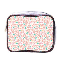 Geometric Abstract Triangles Background Mini Toiletries Bags
