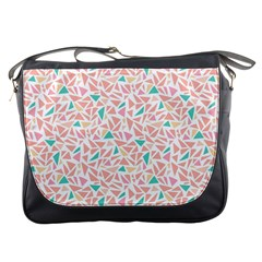 Geometric Abstract Triangles Background Messenger Bags