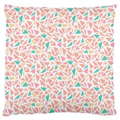 Geometric Abstract Triangles Background Large Cushion Case (Two Sides)