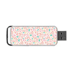 Geometric Abstract Triangles Background Portable USB Flash (One Side)