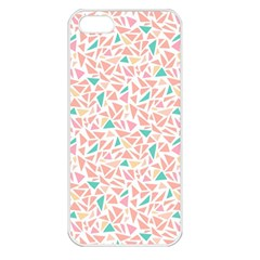 Geometric Abstract Triangles Background Apple iPhone 5 Seamless Case (White)