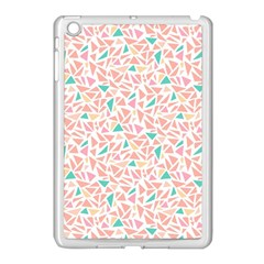 Geometric Abstract Triangles Background Apple iPad Mini Case (White)