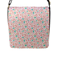 Geometric Abstract Triangles Background Flap Messenger Bag (L)