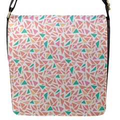 Geometric Abstract Triangles Background Flap Messenger Bag (S)