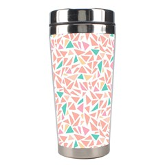 Geometric Abstract Triangles Background Stainless Steel Travel Tumblers