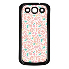 Geometric Abstract Triangles Background Samsung Galaxy S3 Back Case (Black)