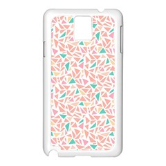 Geometric Abstract Triangles Background Samsung Galaxy Note 3 N9005 Case (White)
