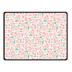 Geometric Abstract Triangles Background Double Sided Fleece Blanket (small)