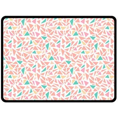 Geometric Abstract Triangles Background Double Sided Fleece Blanket (Large)