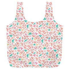 Geometric Abstract Triangles Background Full Print Recycle Bags (L)