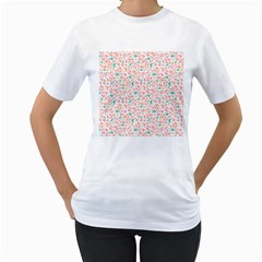 Geometric Abstract Triangles Background Women s T-Shirt (White)
