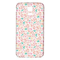 Geometric Abstract Triangles Background Samsung Galaxy S5 Back Case (White)