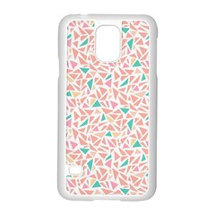 Geometric Abstract Triangles Background Samsung Galaxy S5 Case (White)