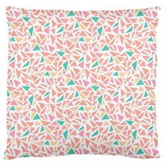 Geometric Abstract Triangles Background Large Flano Cushion Case (One Side)