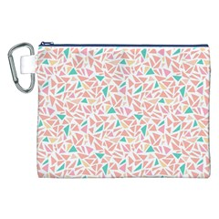 Geometric Abstract Triangles Background Canvas Cosmetic Bag (XXL)