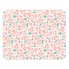 Geometric Abstract Triangles Background Double Sided Flano Blanket (large)