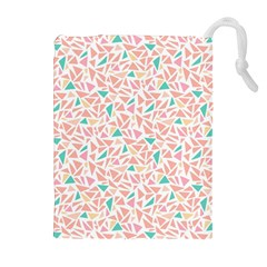 Geometric Abstract Triangles Background Drawstring Pouches (extra Large)